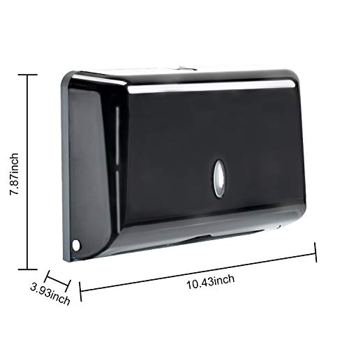 Paper Towel Dispensers, Wall Mount C-Fold/Multifold Paper Towel Dispenser Commercial Toilet Tissue Dispensers Paper Towel Holder for Bathroom, Kitchen(Black)