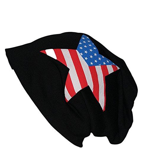 Easy4fashion États-Unis Motif en jersey coton long Bonnet tombant Bonnet Unisexe printemps été