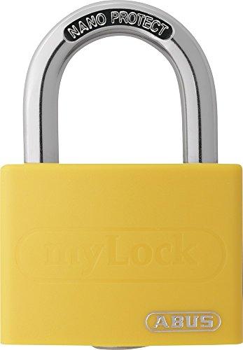 ABUS Aluminium-Vorhangschloss 'myLock' T65AL/40, gelb, 50868