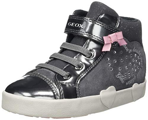 Geox Baby-Mädchen B Kilwi Girl D Sneaker, Grau (Dark Grey), 26 EU