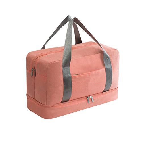 Sports Bag Fitness Handbag Travel Gym Yoga Tote Men Women Luggage Pink
