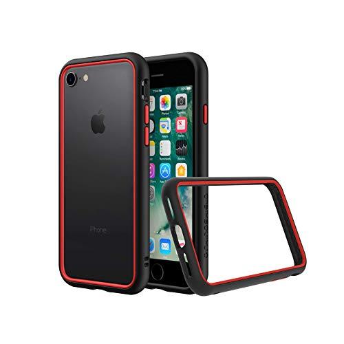 RhinoShield Bumper Case kompatibel mit [iPhone SE2 / SE (2020) / 8/7] | CrashGuard NX - Schockabsorbierende Dünne Schutzhülle 3.5 Meter Fallschutz - Schwarz/Rot