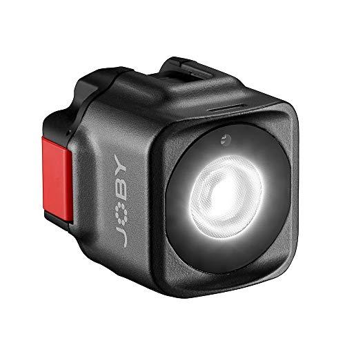 JOBY Beamo LED-Licht, Leuchte für Smartphones & spiegellose Kameras, kompakt, kabelloses Laden, Bluetooth, wasserdicht für Vlogs, YouTube und TikTok, Foto- & Videoaufnahmen