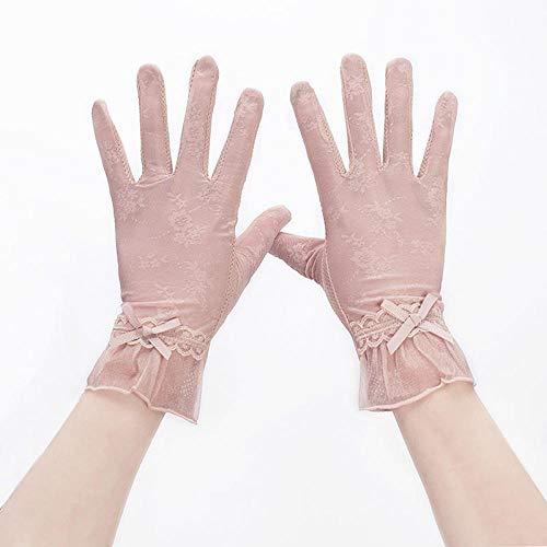 SHOUTAO Fünf-Finger-Sonnenschutzhandschuhe für Damen, rutschfest, atmungsaktiv, UV-Schutz Einheitsgröße B1 Ice Silk (skin powder)