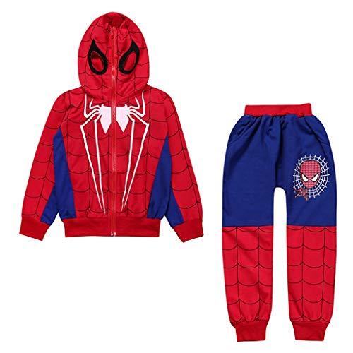 YUNMO Jungen Spiderman kleine und mittlere Kinder Set (Farbe : A, größe : 150)