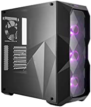 Cooler Master MasterBox TD500 ATX Mid Tower with 3D Diamond-Cut Design, Mesh Front Intake Vents, Transparent Side Panel, Three 120mm RGB Fans & RGB Lighting System