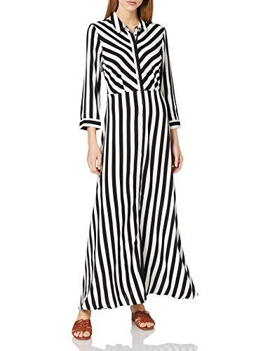 Y.A.S Yas YASSAVANNA Long Shirt Dress-Noos S. Vestito, Nero 1, S Donna