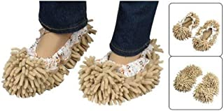 Oteshina Microfiber Elastic Cuff Cleaning Mop Slipper Cover Pair Khaki - Fiber Floors Parts Broom Commercial Nozzle Search Assembly Tile Stick Steam Women Replacement Wash Attachment Spray Han