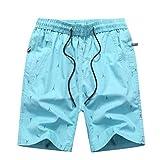 Herren Shorts Elastische Kordelzug Taille Tägliche Sport Freizeit Atmungsaktiv Atmungsaktiv Schweißabsorbierende Hosen Mit Praktischen Taschen
