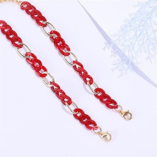 DYXYH Cadena de Hebilla de acrílico para Gafas Gafas de Sol Correas Cuerdas de Cordones Mujeres Hombres Cadenas de Cuello Tenedor para Gafas Accesorios (Color : B, Size : Length-70CM)