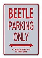 アメリカ雑貨 アメリカン雑貨 英語版 メタルサイン ガレージ ブリキ看板 壁掛け 注意 警告 サインプレート レッド ホワイト 20*30cm (BEETLE)