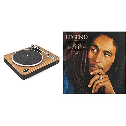 House of Marley Stir It Up Wireless Platine Vinyle sans Fil – Tourne-Disque Bluetooth - Matériaux Durable Bambou et Tissue recyclé - Enregistrement Vinyle USB à PC/MA - Housse de Protection & Legend