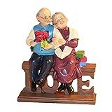 letsgood Creative Handmade Figurines Anniversary Gift - Handcrafted Resin Elderly Couple Sculpture...