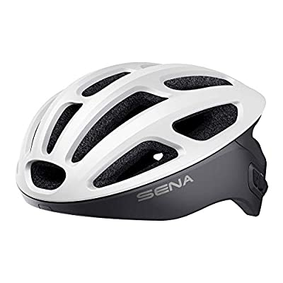Sena Unisex-Adult Smart Cycling Helmet (Matte White, Large) from Sena Technologies, Inc.