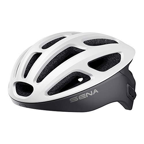 Sena Unisex-Adult Smart Cycling Helmet (Matte White, Medium)