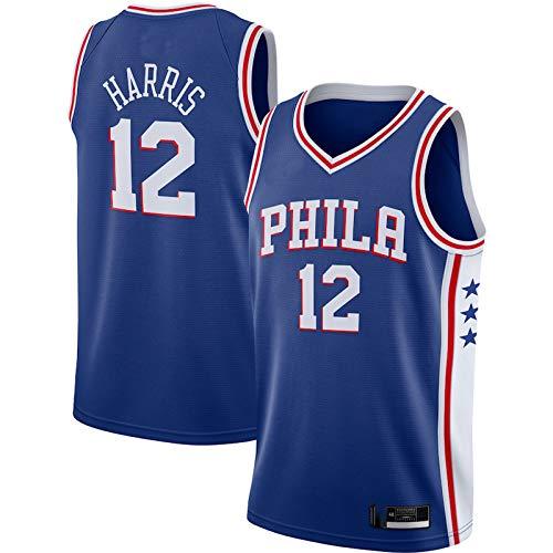 LMSNB Al Aire Libre Mejor Baloncesto # 12 Jersey Tobias Harris Baloncesto Filadelfia 76ers 2020/21 Reducir Sudor Chaleco Jersey - Royal