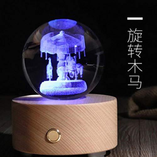 Ethan Constellation Crystal Ball Bluetooth Audio Box Muziek Twaalf Verjaardag voor meisjes en jongens Zie grafiek