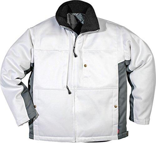 Fristads gefütterte Winterjacke PMV-478 100% Polyester, Farbe:weiss/dunkelgrau;Größe:S