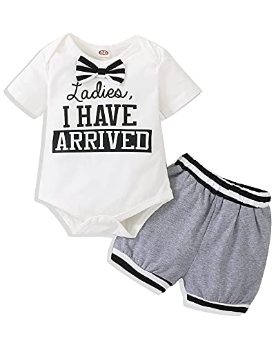 NZRVAWS Newborn Baby Boy Clothes Summer Outfits Short Sleeve Romper Bodysuit +Shorts Pants Infant Baby Boy