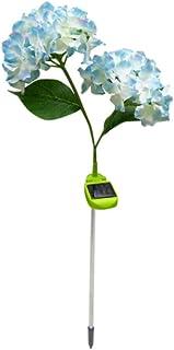 Mobestech Solar Garden Stake Light, Hydrangea Flower Ground Light, Solar Lawn Lamp for Garden, 1Pcs