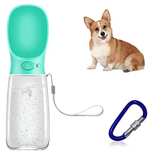 FineGood Botellas de agua portátiles para perros con cuencos plegables, 500 ml de grado alimenticio para perros, botella de agua para perros y caminantes, botella de agua de viaje