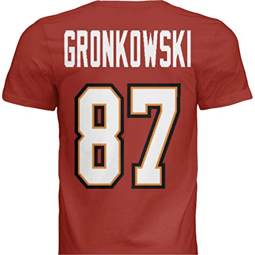 Hall of Fame Sports Memorabilia NWT New Gronkowski #87 Tampa Bay Red Custom Screen Printed Football T-Shirt Jersey No Brands/Logos Men's (Extra Large)