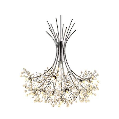 DDJJZHXYP lámpara de araña de cristal blanca iluminación para sala de estar dormitorio decoración del hogar nórdico luces colgantes G4