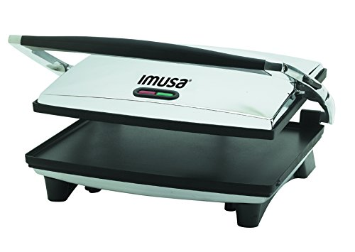 Find Bargain IMUSA USA GAU-80102 Large Electric Panini Press 1400-Watts, Silver