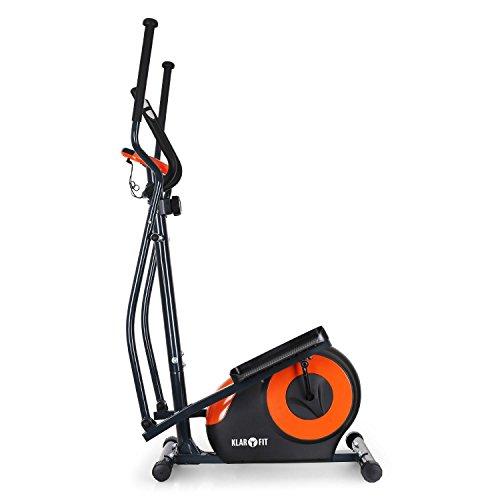 Klarfit Ellifit FX 250 – Nordic Walking Ellipsentrainer, Crosstrainer, Handpulsmesser, Trainingscomputer, 8 Stufen Widerstand, für Personen mit einem Gewicht bis 110kg, schwarz-orange - 3