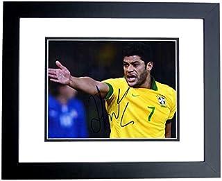 Hulk Signed - Autographed Shanghai SIPG FC - Brazil National Team Futbol - Soccer 8x10 inch Photo - BLACK CUSTOM FRAME - Hulk Givanildo Vieira de Sousa
