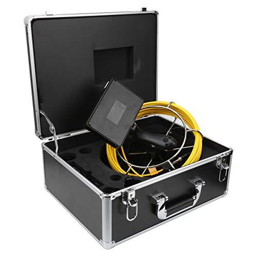 下水道検査カメラ下水道ビデオカメラ水中調査カメラプローブ下水道内視鏡排水管カメラパイプカメラパイプ用収納ボックス付き(F5P17-20M)
