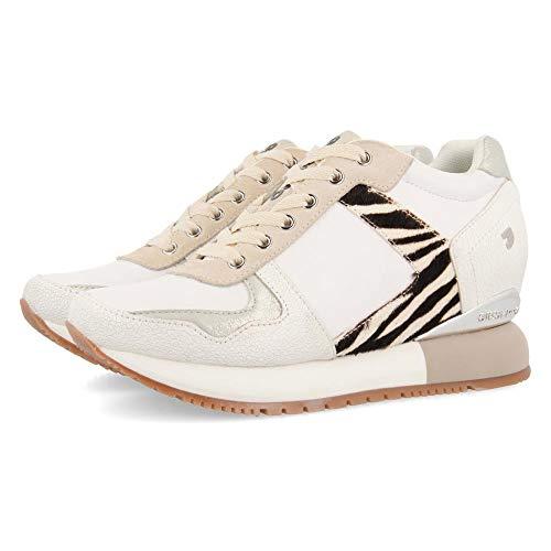 GIOSEPPO Meerut, Zapatillas para Mujer, Multicolor (Cebra Cebra), 39 EU