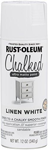 Rust-Oleum 302591 Chalked Spray Paint, 12 oz, Linen White/White