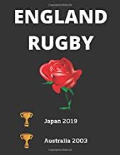 England Rugby ----- Japan 2019 / Australia 2003: England Rugby World Cup Champions Themed Notebook/ journal/ Notepad/ Diary For Fans. Men, Boys, ... 120 Black Lined Pages | 8.5 x 11 inches | A4