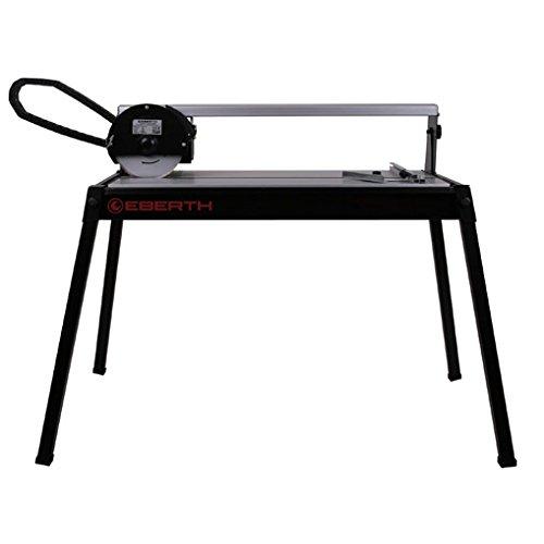EBERTH 620 mm Tagliapiastrelle elettrico con il Laser (rotazione continua fino a 45°, Profondità di taglio 25 mm, Battuta angolare, Disco diamantato)