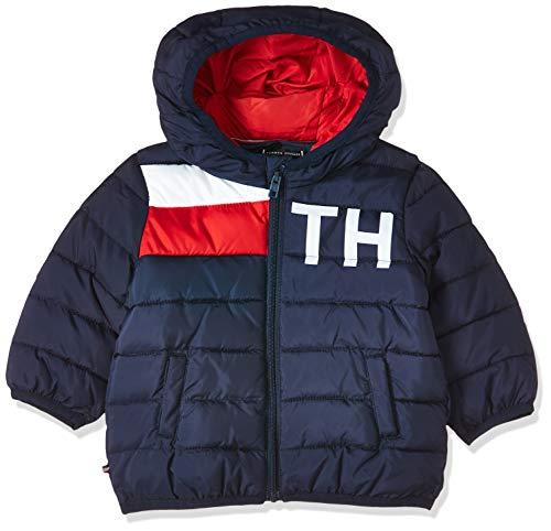 Tommy Hilfiger Baby-Jungen Tommy Flag Jacket Jacke, Blau (Black Iris 002), (Herstellergröße:86)