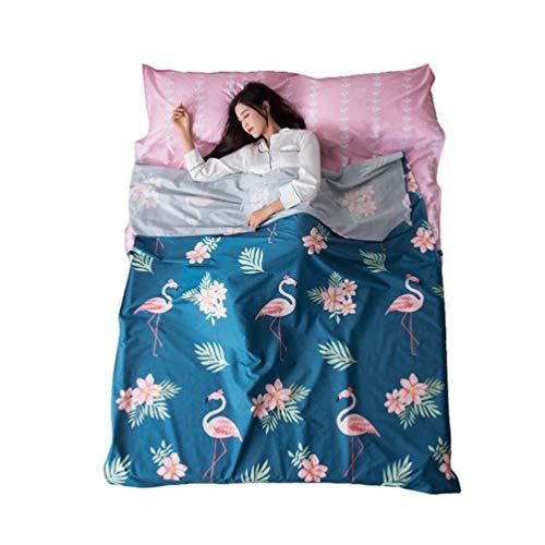 Kuncg Hüttenschlafsack Schlafsack Sommerschlafsack Leicht & Dünn Reiseschlafsack Inlay Ideal für Hostels Dienstreise Antibakteriell Atmungsaktiv