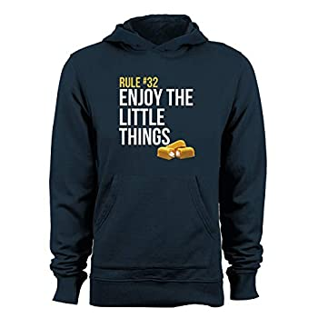 GEEK TEEZ Rule #32 Enjoy The Little Things Men s Hoodie Navy Large