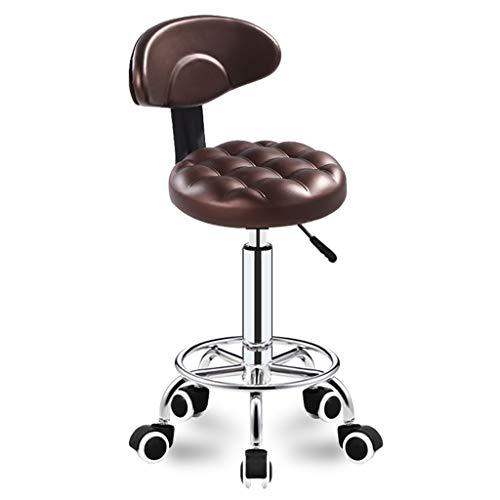 BAR STOOL LF Chaise de bar créative à dossier haut, tabouret rotatif pour petit-déjeuner, restaurant, simple (couleur : marron-a)