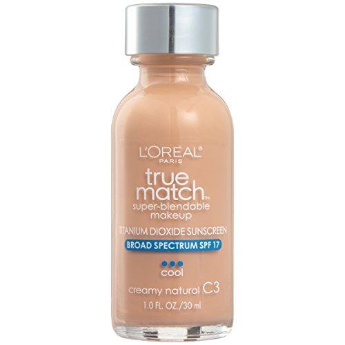 Price comparison product image L'Oreal Paris Makeup True Match Super-Blendable Liquid Foundation,  Creamy Natural C3,  1 Fl Oz, 1 Count