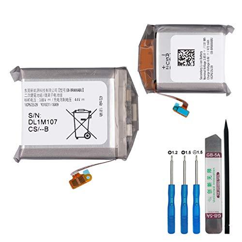 E-yiiviil Batería de repuesto EB-BR800ABU compatible con Samsung Gear S4 SM-R800 SM-R805 SM-R810 Smart Watch con herramientas.