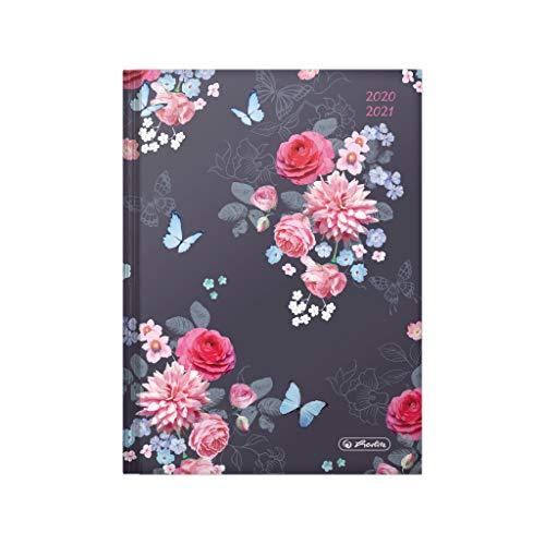 herlitz 50029143 Schülerkalender 2020/2021 Legend, A5, Motiv: Flowers, 1 Stück