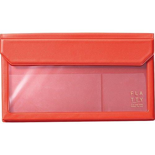 キングジム バッグインバッグ FLATTY 封筒サイズ 赤 5362アカ