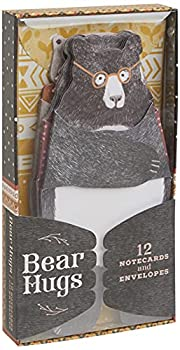 Bear Hugs  12 Notecards and Envelopes  Unique Bear Themed Greeting Cards for Friends and Family Cute Animal Illustrated Stationery