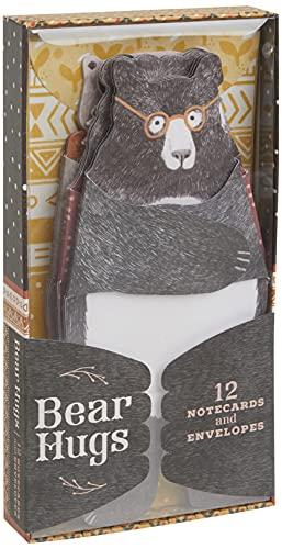 Bear Hugs: 12 tarjetas y sobres (tarjetas de felicitación temáticas de oso único para amigos y familia, papelería ilustrada de animal)