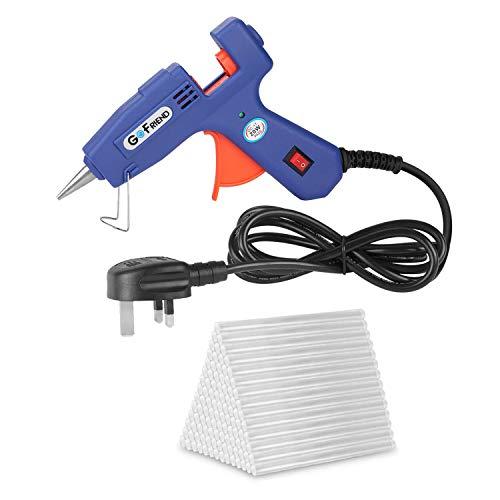 Mini Hot Melt Glue Gun, GoFriend 20-Watt Electric Glue Gun Aluminum Nozzle with 80 pcs Melt Glue...