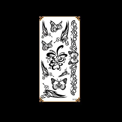 1 piezas etiqueta engomada del tatuaje impermeable etiqueta engomada del tatuaje animal cabeza de ciervo impermeable dibujos animados