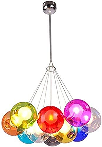 HEZ Kleurrijke Bubble Led Kroonluchter Kristal Bal Hanglamp Verstelbare Creatieve Lijn Plafond Kroonluchter Trap Verlichting,D