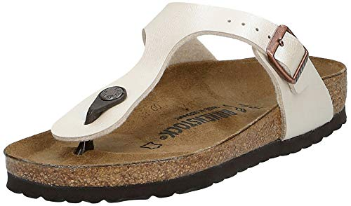 Birkenstock Gizeh BS Infradito Donna, Avorio (Graceful Pearl White/Antique Lace), 37 EU