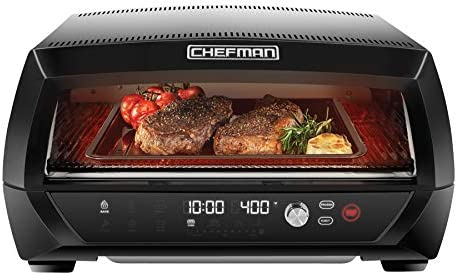 Chefman Food Mover Conveyor Toaster Oven Moving Belt for Toasting Bread Bagels Stainless Steel product image